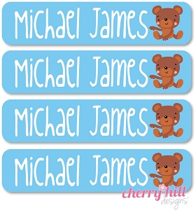 waterproof name labels - set of 24 - BEAR