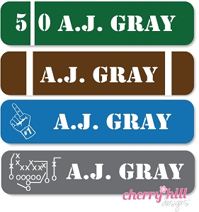 waterproof name labels - set of 24 - FOOTBALL