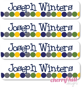 waterproof name labels - set of 24 - ROUGH 'N TUMBLE
