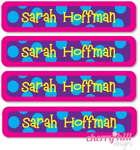 waterproof name labels - set of 24 - SAILOR BRIGHT