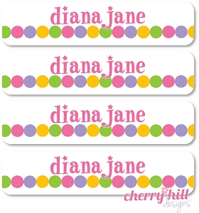 waterproof name labels - set of 24 - SUPER STAR