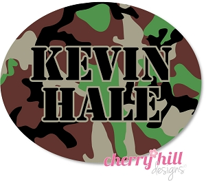 waterproof name labels - set of 66 - CAMO BROWN