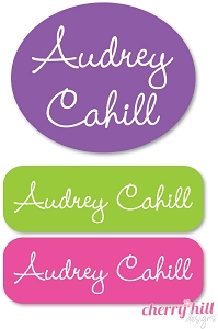 Peel & stick clothing name labels - set of 72 - PRINCESS
