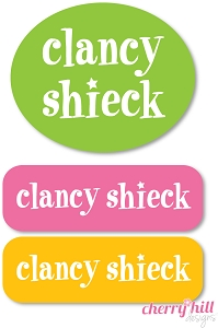 Peel & stick clothing name labels - set of 72 - SUPER STAR