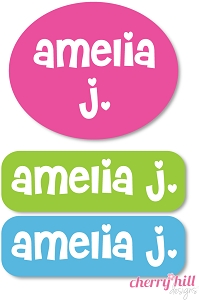 Peel & stick clothing name labels - set of 72 - SWEETHEART