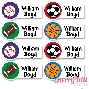waterproof name labels - set of 48 - SPORTS