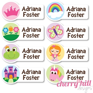 waterproof name labels - set of 64 - ENCHANTED