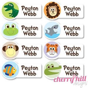 waterproof name labels - set of 64 - WILD SIDE