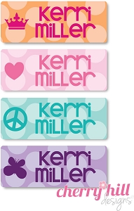 mini iron-on clothing name labels - set of 64 - BUBBLE DOTS
