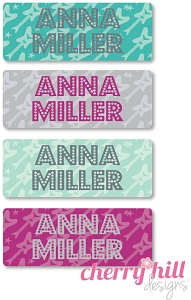 mini iron-on clothing name labels - set of 64 - ROCKSTAR