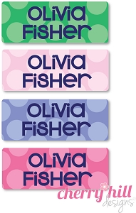 peel & stick clothing name labels - set of 64 - SAILOR DOTS