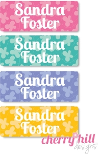 waterproof name labels - set of 72 - BUTTERFLY