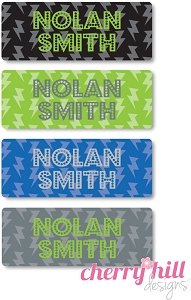 waterproof name labels - set of 72 - LIGHTNING