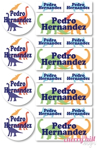 waterproof labels combo pack - set of 64 - DINOSAURS