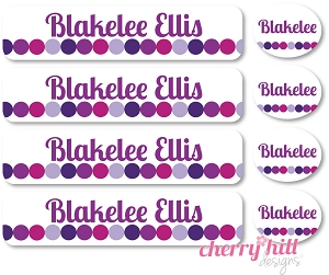 waterproof labels combo pack - set of 48 - TOTES PURPLE