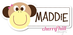 waterproof name labels - set of 26 - MONKEY GIRL