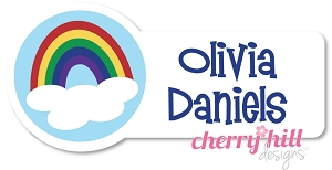 waterproof name labels - set of 26 - RAINBOW