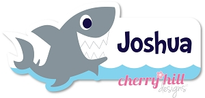 waterproof name labels - set of 26 - SHARK