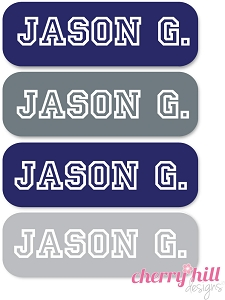 waterproof name labels - set of 64 - ATHLETE
