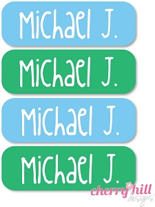 waterproof name labels - set of 64 - BEAR