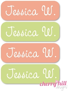 waterproof name labels - set of 64 - BUNNY