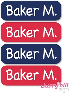 waterproof name labels - set of 64 - CAT