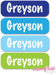 waterproof name labels - set of 64 - OCEAN
