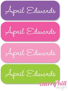 waterproof name labels - set of 64 - PRINCESS