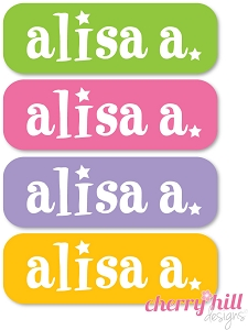 waterproof name labels - set of 64 - SUPER STAR