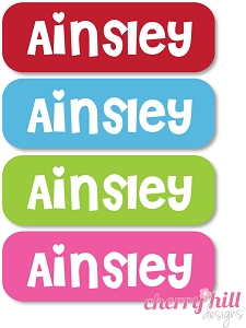 waterproof name labels - set of 64 - SWEETHEART
