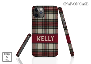Personalized iPhone Case - FLANNEL PLAID