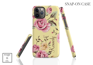 Personalized iPhone Case - FLORAL YELLOW