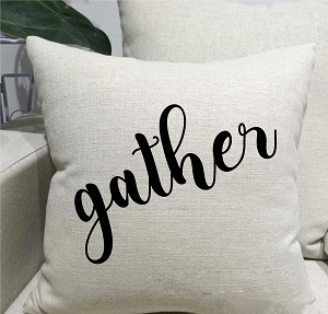 Gather Linen Throw Pillow