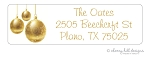 return address labels - set of 75 - ORNAMENTS GOLD