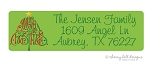 Merry Christmas Tree [holiday] return address labels