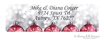 Red Ornaments [holiday] return address labels