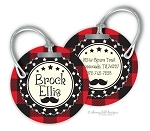 Personalized round premium bag tag - HIPSTER