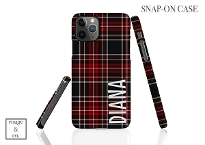 Personalized iPhone Case - HOLIDAY PLAID