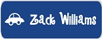 Iron-on Clothing Name Labels - set of 42 - BLUE CAR