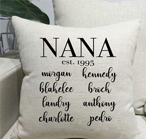 Family Tree Linen Throw Pillow