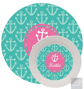 Personalized Kids Melamine Dinnerware - ANCHORS