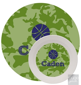 Personalized Kids Melamine Dinnerware - CAMO