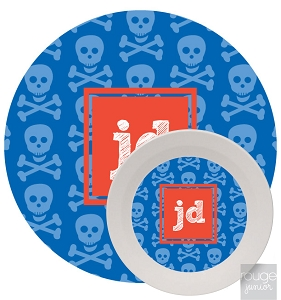 Personalized Kids Melamine Dinnerware - SKULLS