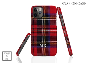 Personalized iPhone Case - TARTAN PLAID RED