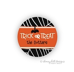 Spiders round halloween goodie tags - set of 24