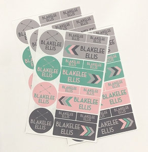 waterproof labels combo pack - set of 64 - TAKE FLIGHT PINK