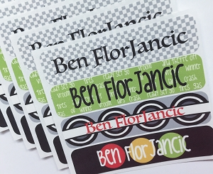 waterproof name labels - set of 24 - VROOM VROOM