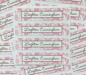 waterproof name labels - set of 24 - CALAIS PINK