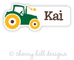 waterproof name labels - set of 26 - TRACTOR