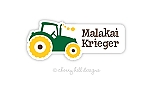 waterproof name labels - set of 24 - TRACTOR